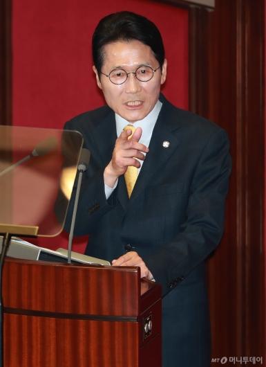 [사진]윤소하 '나경원 비례대표 폐지법안...철저한 자기모순'