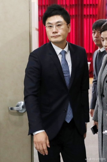 [사진]주총 참석한 양민석 YG 대표이사