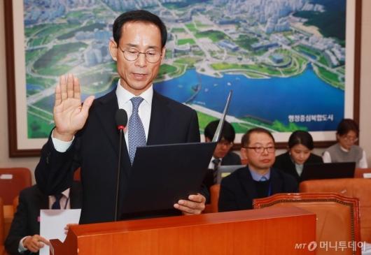 [사진]검증대 선 최정호 국토교통부 장관 후보자