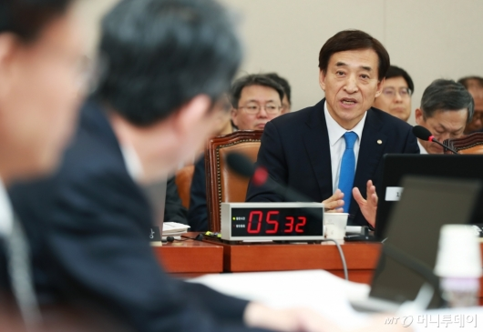 [사진]이주열 한은 총재, 기재위 전체회의 출석