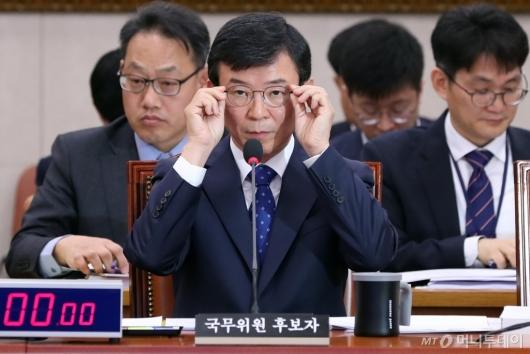 [사진]인사청문회 준비하는 문성혁 후보자
