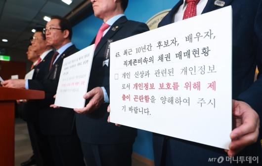 [사진]박영선 인사청문회 연기 촉구하는 자한당 산자중기위원