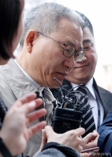 [사진]영장심사 출석하는 서유열 전 KT 사장