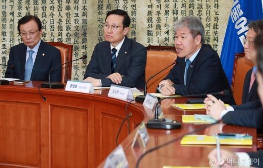 [사진]고위당정청 모두발언하는 김수현 靑 정책실장