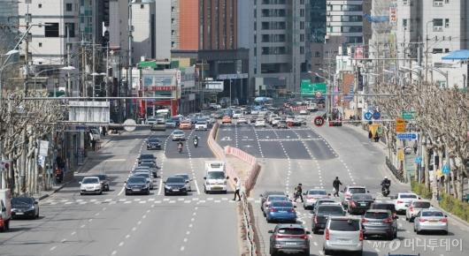 [사진]구로고가 철거 뒤 왕복 10차선 도로 전면 개통