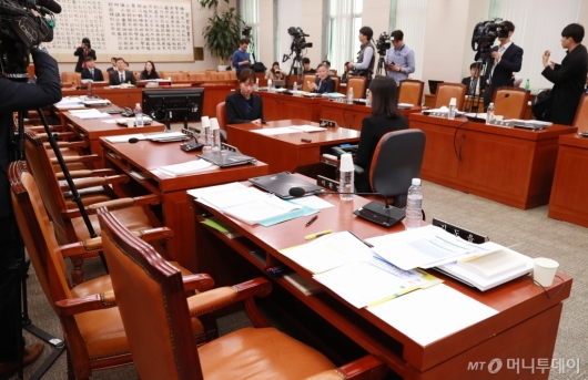 [사진]정회된 문형배 헌법재판관 후보자 인사청문회