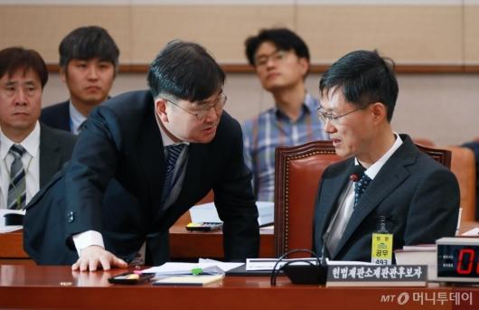 [사진]문형배 헌법재판관 후보자 인사청문회...여야 언쟁 끝 정회