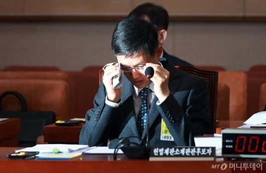 [사진]시작도 못한 문형배 헌법재판관 후보자 인사청문회