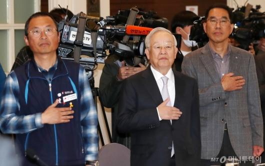 [사진]양대노총 위원장 만난 손경식 경총 회장