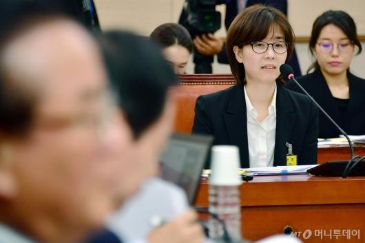 [사진]인사청문회 출석한 이미선 헌법재판관 후보자