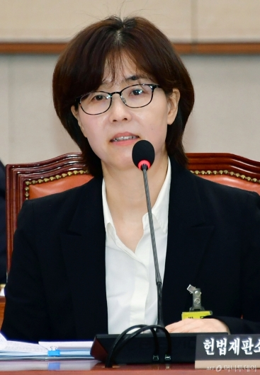 [사진]검증대 오른 이미선 헌법재판관 후보자