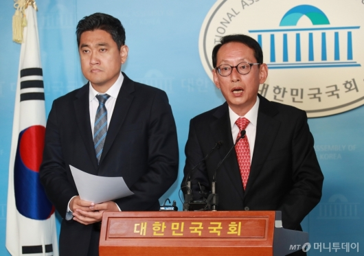 [사진]김도읍-오신환, 이미선 헌법재판관 후보자 자진사퇴 촉구