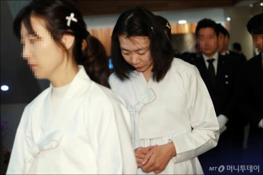 [사진]영결식 참석하는 조현아 전 부사장