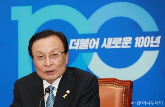 [사진]이해찬 민주당 대표 기자간담회