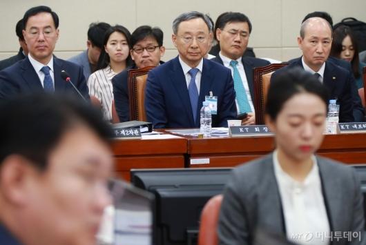 [사진]청문회 출석한 황창규 KT 회장