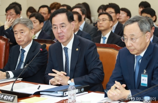 [사진]KT화재 원인규명 청문회 출석한 민원기 과기부 2차관