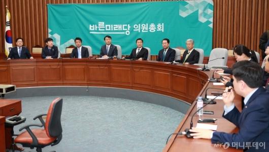 [사진]바른미래당 의원총회 개최...'선거제 패스트트랙은 어떻게?'