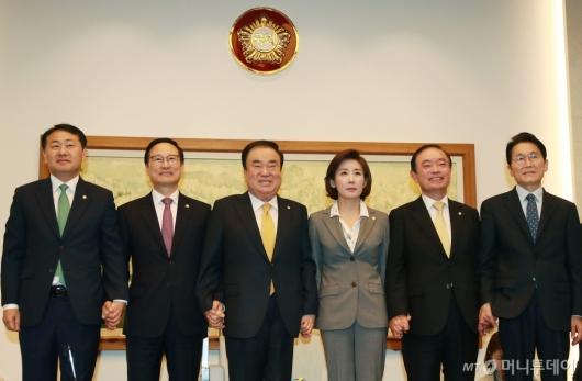 [사진]국회의장-5당 원내대표 정례회동
