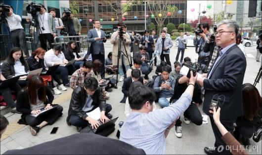 [사진]윤지오 고소 관련 입장 밝히는 박훈 변호사