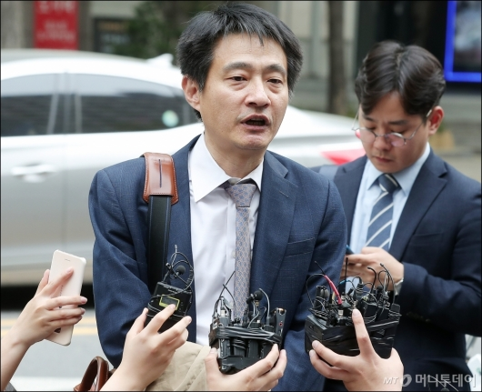 [사진]윤지오 증언 관련 발언하는 김대오 기자