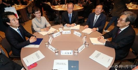 [사진]국가기후환경회의 출범식 참석한 노영민-박수현