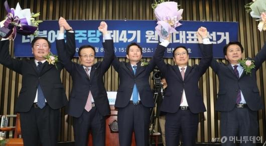 [사진]이인영 의원, 민주당 신임 원내대표 선출