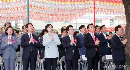 [사진]봉축법요식 참석한 여·야 지도부