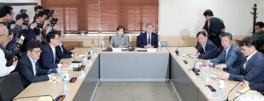 [사진]'버스노조 노동쟁의 조정 신처에 따른 합동 연석회의'