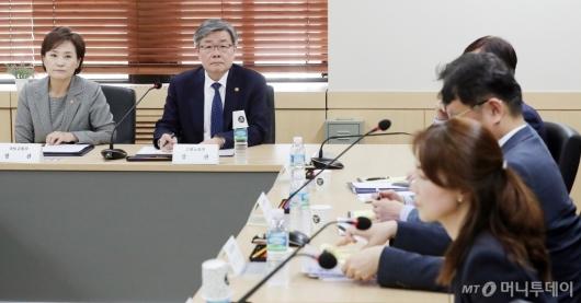 [사진]국토부-고용부, '노선버스 대응 합동 연석회의'