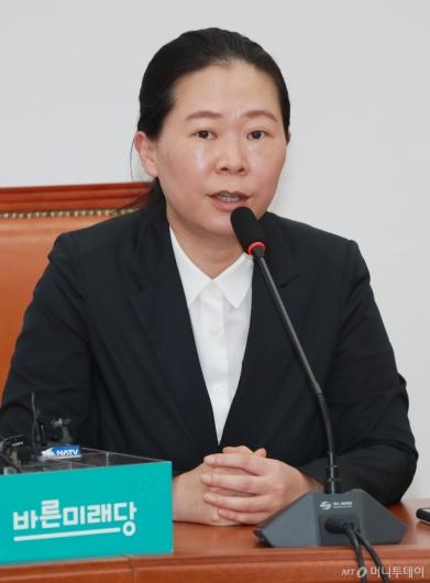 [사진]퇴임 기자회견하는 권은희 바른미래당 정책위의장