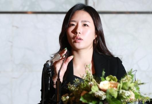 [사진]'빙속여제' 이상화 은퇴 기자간담회