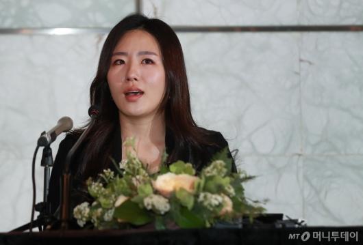 [사진]은퇴 선언하는 '빙속여제' 이상화 선수