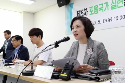 [사진]유은혜 사회부총리, 사회관계장관회의 모두발언