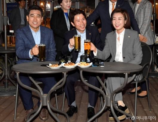 [사진]'호프 회동' 여야3당 원내대표