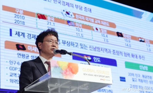 [사진]'글로벌 이슈2019' 참석한 김용래 통상차관보