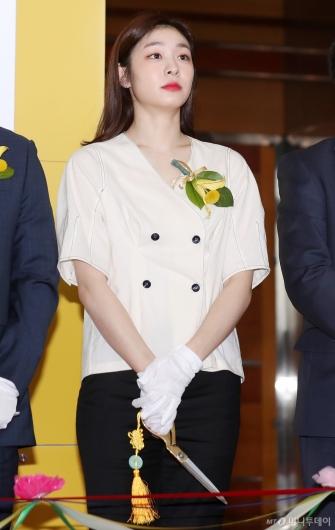 [사진]김연아, '2019 KB굿잡 우수기업 취업박람회 참석