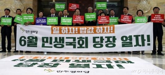 [사진]구호 외치는 민주평화당