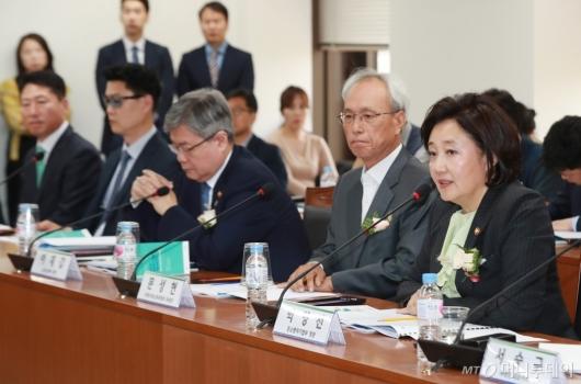 [사진]경사노위 찾은 박영선 중기벤처부 장관