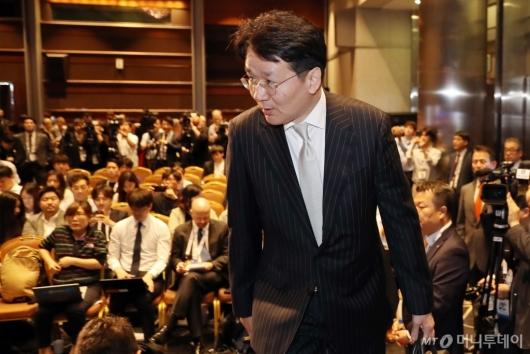 [사진]기자간담회 참석하는 조원태 회장