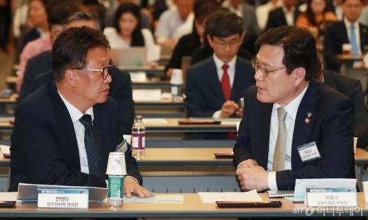 [사진]민병두-최종구, 금융 빅데이터 인프라 오픈 행사 참석