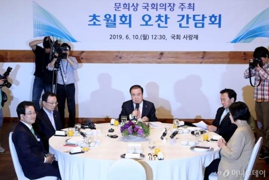 [사진]국회의장 주최 초월회 오찬 간담회