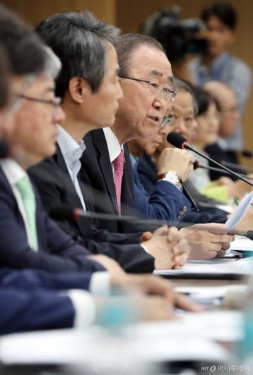 [사진]국가기후환경회의 모두발언하는 반기문