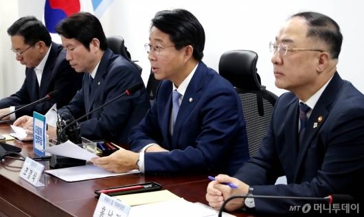 [사진]발언하는 조정식 정책위의장