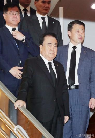 [사진]고 이희호 여사 빈소 찾은 문희상 국회의장
