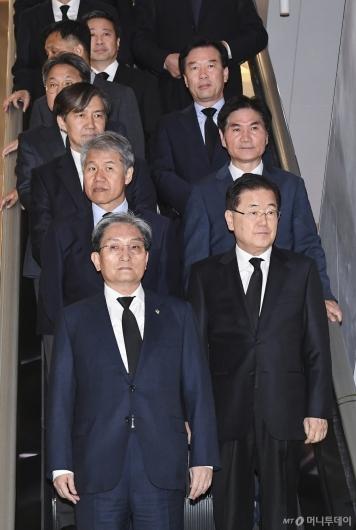 [사진]故 이희호 여사 빈소 찾은 청와대 인사들