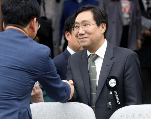 [사진]확대간부회의 참석하는 양정철 민주연구원장