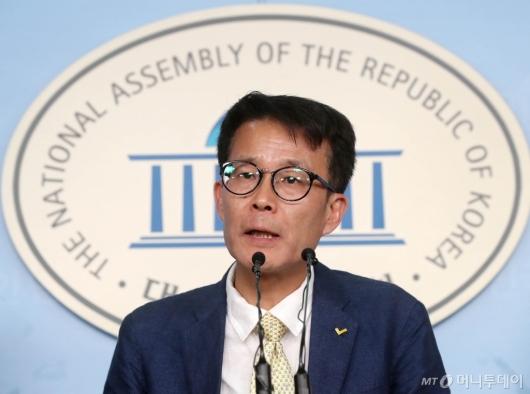 [사진]출마선언하는 양경규 정의당대표 후보자