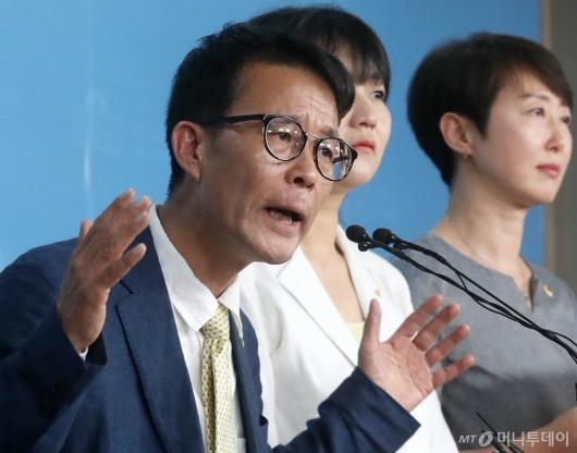 [사진]양경규, 정의당대표 출마선언