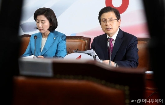 [사진]국회 정상화 압박받는 자유한국당