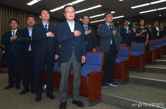 [사진]민주당, 한국당 제외 국회 소집 당론 결정